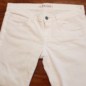 "J Brand White ""Seven-Eighths"" Jeans"